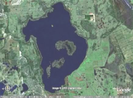 Lake Istokpoga ariel map